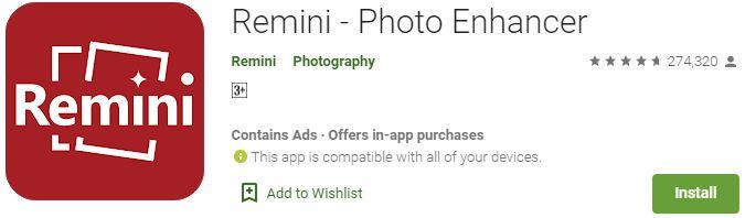 Download Remini Photo Enhancer For Windows