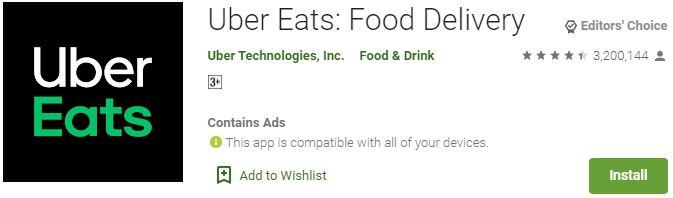 DownloadUber Eats For Windows