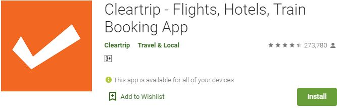 Download Cleartrip For Windows