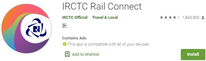Download IRCTC Rail Connect For Windows