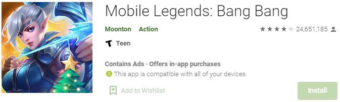 Download Mobile Legends Bang Bang For Windows