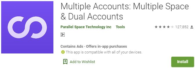 Download Multiple Accounts Parallel Space & Dual For Windows
