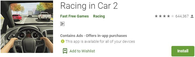 Download Racing in Car 2 For Windows