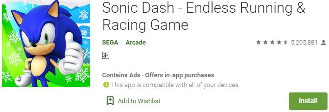Download Sonic Dash For Windows