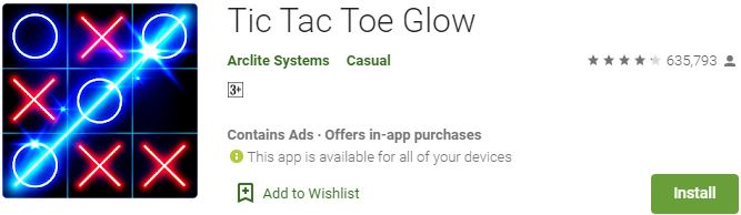 Download Tic Tac Toe Glow For Windows