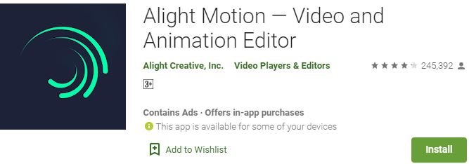 Download Alight Motion For Windows