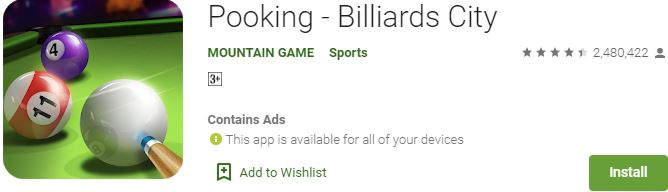 Download Pooking - Billiards City For Windows
