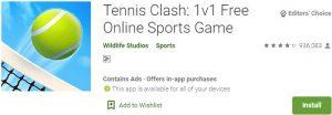 Download Tennis Clash For Windows