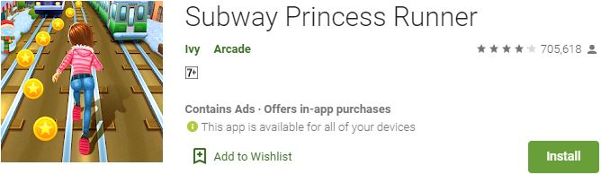 Subway Princess Runner For Windows