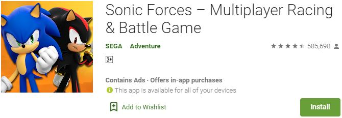Download Sonic ForcesFor Windows