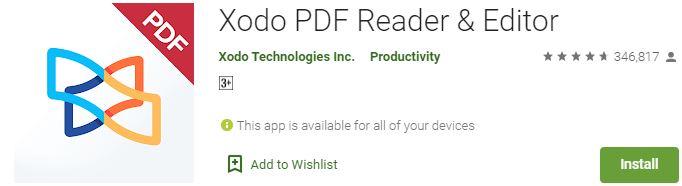 Download Xodo PDF Reader & Editor For Windows