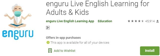 Download enguru Live English Learning For Windows