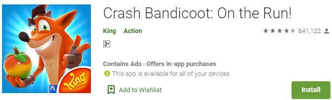 Download Crash Bandicoot On the Run! For Windows