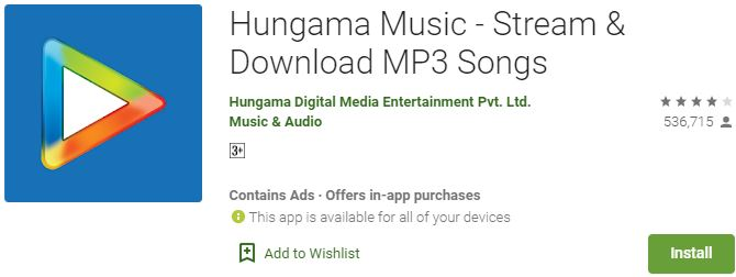 Download Hungama Music For Windows