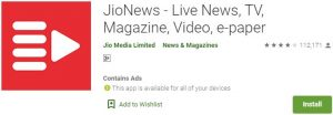 Download JioNews For Windows
