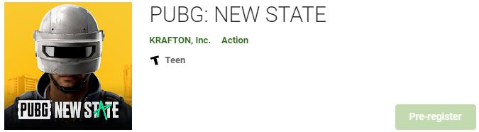 Download PUBG NEW STATE For Windows