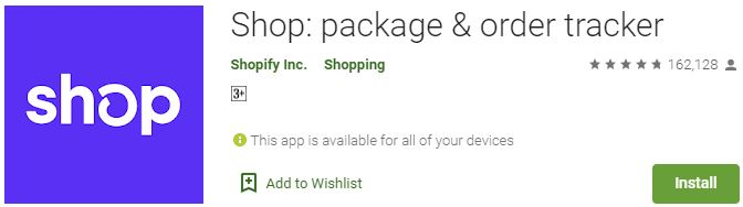 Download Shop package & order tracker For Windows