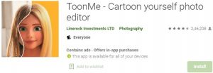 Download ToonMe - Cartoon yourself photo editor For Windows