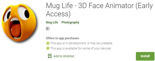 Downaload Mug Life - 3D Face Animator For Windows
