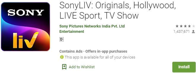 Download SonyLIV For Windows
