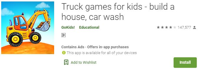Download Truck games for kids For Windows