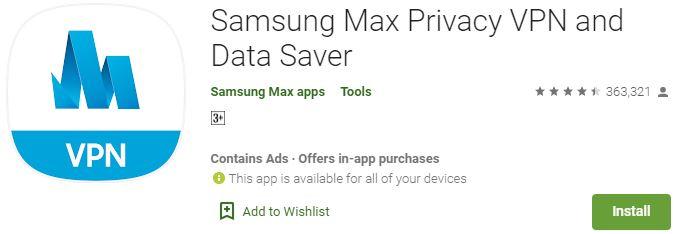 Samsung Max VPN for PC